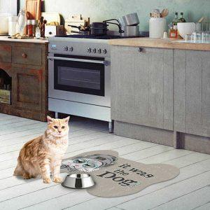 שטיח לחתול,פפיון, אפור
