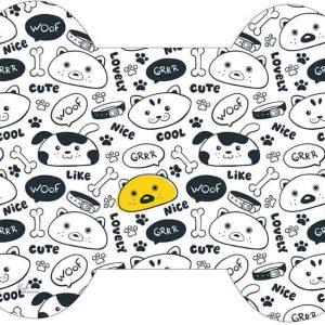 שטיח לכלב, שחור לבן