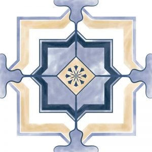 מדבקות לקיר, וינטאג׳ כחול ריבוע
