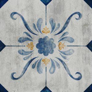 פרחים, וינטאג׳, כחול