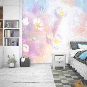 טפט פרחים צבעוני