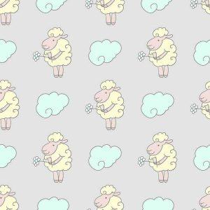 טפט כבשה ועננים