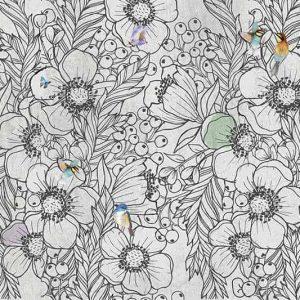 טפט פרחים, טפט פרפרים