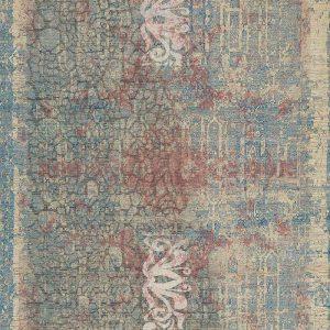 שטיח מודרני, אבסטרקט, תכלת, יין