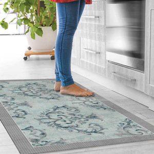 שטיח קלאסי, שטיח רטרו, תכלת