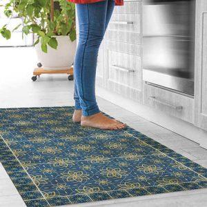 שטיחי אריחים, שטיח בוהמי, כחול, זהב