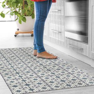 שטיחי אריחים, שטיח רטרו, אפור כחול, סגול