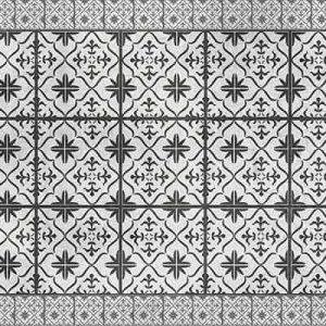 שטיחי אריחים, שטיח בוהמי, שחור לבן