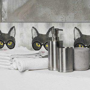 מדבקות לאמבטיה, מדבקות חיות, חתול