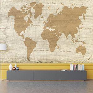 טפט מפת העולם, טפט לחדרי נוער, טפט למשרד