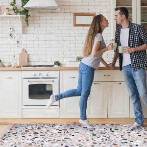 שטיח פיויסי למטבח, טרצו צבעוני